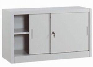 armadio archivio basso ufficio metallo ante scorrevoli