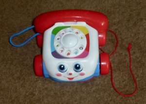 : Fisher Price Classic Pull Along Chatter Phone..not vintage