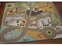 IKEA kids map traffic rug large