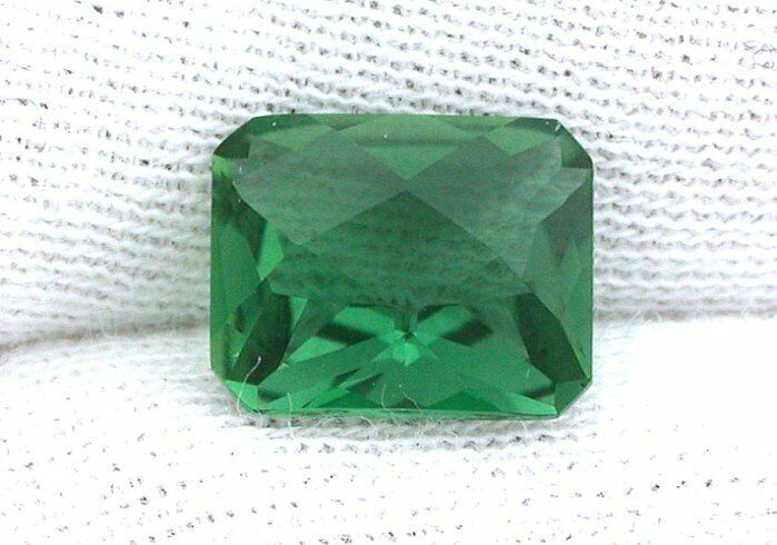 10x8 10mm x 8mm Checkerboard Emerald Cut  Green Quartz Gem Stone Gemstone ES3109