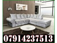 THIS WEEK SPECIAL OFFER BRAND NEW ROYAL CRUSHED VELVET CORNER SOFA 0098
