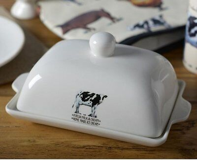 FARMERS MARKET BUTTER DISH Ceramic with Lid