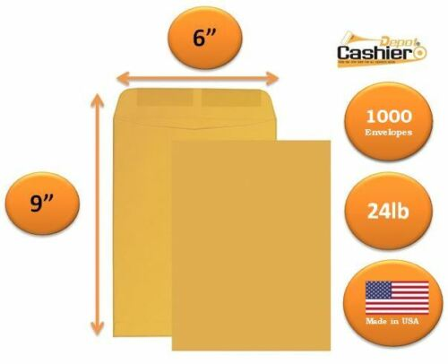 "6"" x 9"" Premium Catalog (Open End) Envelope, Brown Kraft, 1000 Envelopes 2(500)"