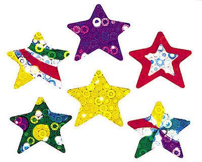 72 TREND Twinkling Stars Sparkle reward praise craft stickers (Twinkling Stars)