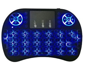 Mini Wireless Keyboard 3 color backlit 2.4GHz English Air Mouse