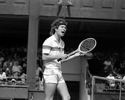 Tennis Pro JOHN MCENROE Glossy 8x10 Photo Print Wimbledon US Open Poster