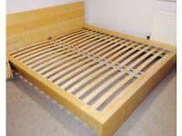 Ikea Malm (oak veneer) king size bed for sale
