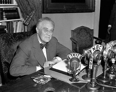 1944 President FRANKLIN D ROOSEVELT FDR Glossy 8x10 Photo D-Day Speech Print