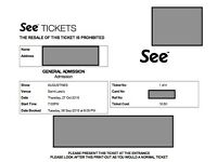 Augustines Ticket x1, St Lukes Glasgow October 27th