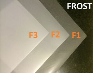 3 X Frost Diffusion White Lighting Filter Gel Sheets 24