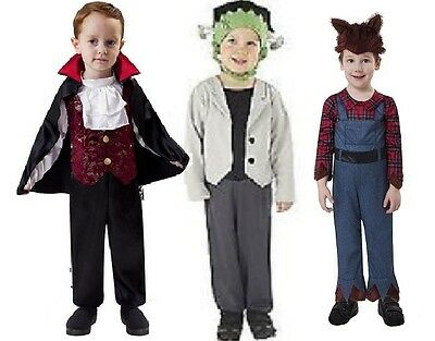 NWT TODDLER LIL MONSTER HALLOWEEN COSTUMES - WOLFMAN VAMPIRE FRANKENSTEIN 2T-6T (2 Toddler Halloween Costumes)