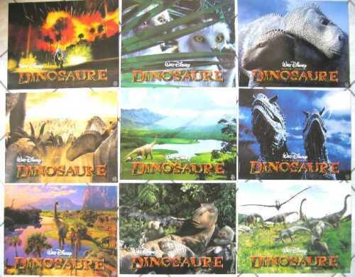 DINOSAUR 2000 WALT DISNEY - 10 French Lobby-cards NICE