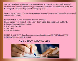 Essay  Assignment Writing Service - All Subjects
