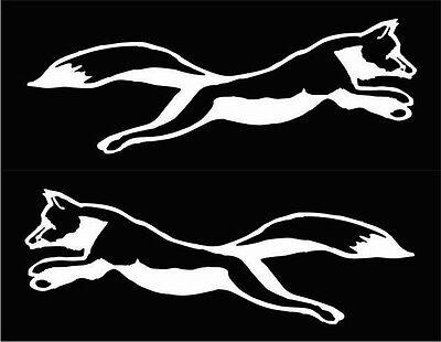 FOXES (2) window decals, white vinyl