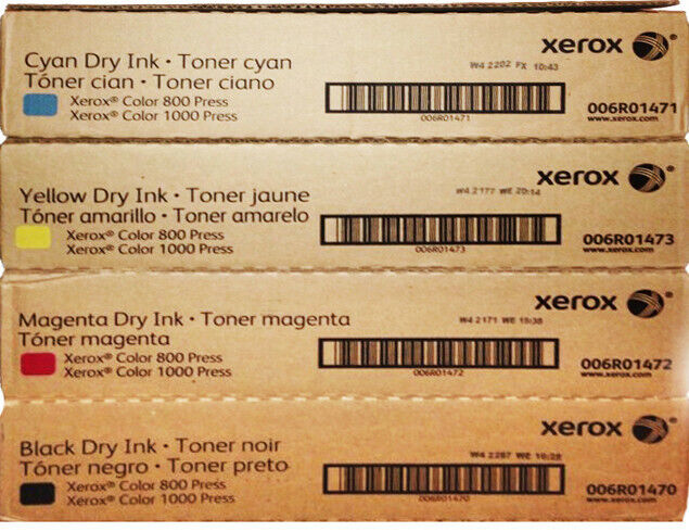 XEROX ColorPress 800 / 1000  Complete TONER Set  - NEW - Factory Sealed
