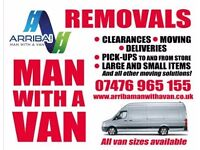 ARRIBA MAN WITH A VAN REMOVAL SERVICE - HOUSE/OFFICE/BUSINESS CLEARANCE& REMOVALS 24/7