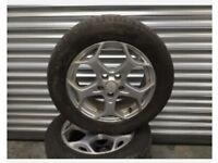 "Ford. Alloy wheel. Snowflake 16"" inc tyre"