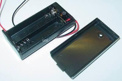 Batteriehalter, Batteriekasten, Batteriegehäuse Schalter, 2 x AA, EIN-AUS, S121