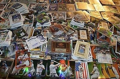 MLB 75 Card Hot Pack Lot 3 Autograph Autos / Game Used Jersey Cards Baseball