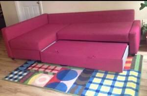 Sofa bed in vibrant pink Haymarket Inner Sydney Preview