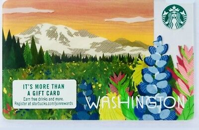 2018 Starbucks Card US City Washington State Collectible New