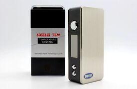 SIGELEI 75W Box Mod + Battery / sigelei / aspire / Kangertech / tank / vaping / e-juice