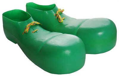 Green Clown Shoes Oversized Plastic Shoes Circus Theme Costume Accessory (Green Clown Shoes)