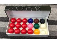 Kids set of Snooker balls - used