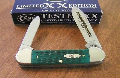 CASE XX New Limited Edition Series 31 Jade Green Bone 2 Blade Canoe Knife/Knives