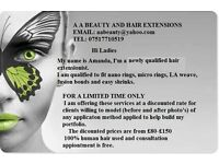 100% human hair extensions and spray tanning service