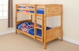 Solid Wooden Pine Bunk Bed