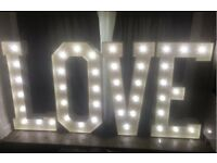 5ft love letters for hire wedding engagement party