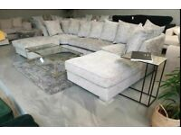 BRAND NEW U-SHAPE 6 SEATER DOUBLE PADDED SEAT CUSHIONS CORNER SOFA AVAILABLE NOW IN STOCK