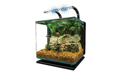 Marineland Aquarium Kit Starter 3 Gallon Contour Glass With Rail Light Stylish