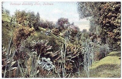 Oakham CATMOSE ROCKERY GLEN Rutland OLD POSTCARD