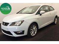 £165.72 PER MONTH WHITE 2013 SEAT IBIZA 1.6 CR SPORTCOUPE FR DIESEL MANUAL