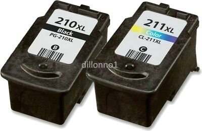2PK PG-210XL CL-211XL Ink For Canon MP240 MP250 MX340