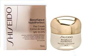 SHISEIDO Benefiance NutriPerfect 1.7 oz Day Cream SPF 15 NEW NIB 50 ml