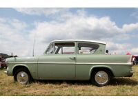 FORD ANGLIA 105E 123E WANTED IN ANY CONDITION *** TOP PRICES PAID FOR RESTORED TO ORIGINAL CARS **