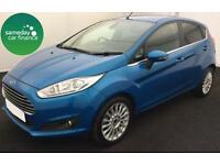 ONLY £172.47 PER MONTH BLUE 2013 FORD FIESTA 1.0 ECOBOOST TITANIUM 5 DOOR