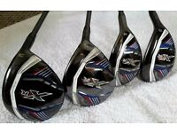 CALLAWAY XR woods x4 & covers - cost £640 - IMMACULATE - injury forces sale - PROJECT X 5.5 graphite