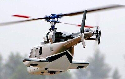 (Funkey Bell 222 Scale Fuselage for 550(.30) + Retractable Landing Gear GREEN NIB)