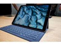 "iPad Pro 12.9"" with Apple keyboard, Back Cover and Apple Pencil"