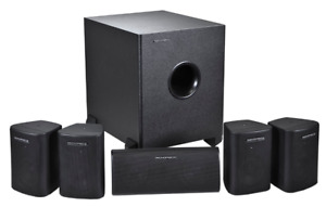 Monoprice 5.1 Channel Home Theater Satellite Speakers Subwoofer
