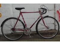 Vintage road bike VISCOUNT old british brand 23inch SHIMANO 600 NEW TYRES - serviced & warranty