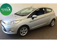 £122.27 PER MONTH SILVER 2012 FORD FIESTA 1.2 ZETEC 3 DOOR PETROL MANUAL