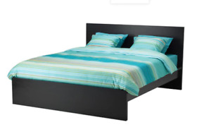 Ikea Malm Queen Bed (With Mattress and Foam Topper)