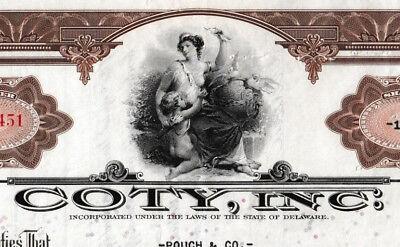 Coty, Inc.  historische Aktie 1936 USA Parfüm Duft Kosmetik America