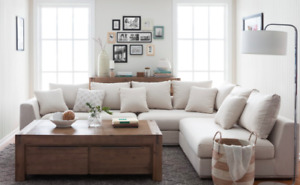 Sectional Sofa - White