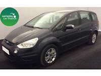 £246.47 PER MONTH GREY 2013 FORD S-MAX 2.0 POWERSHIFT ZETEC DIESEL AUTO 7 SEAT